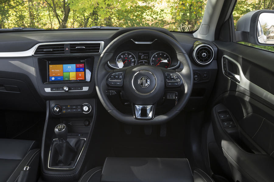 MG ZS dashboard