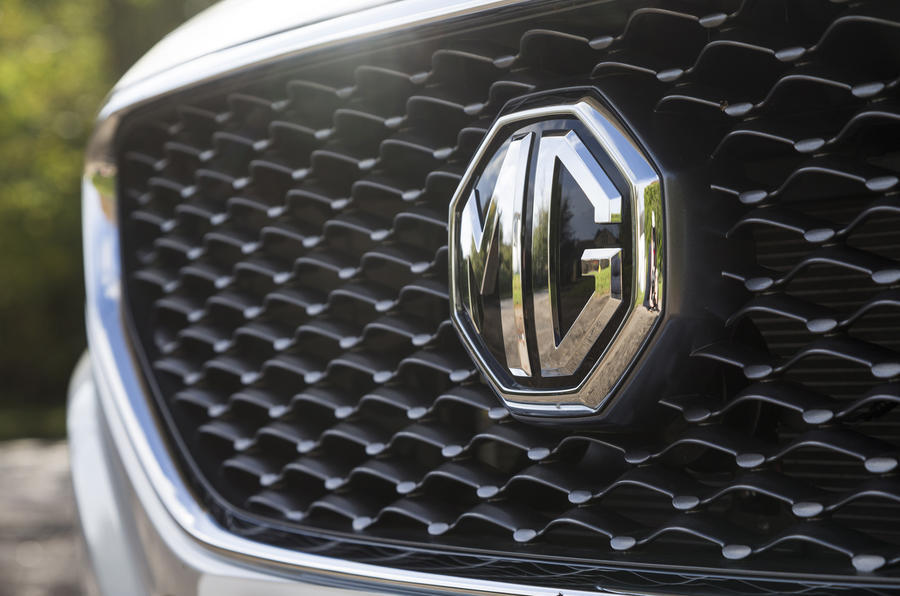 MG ZS front badging