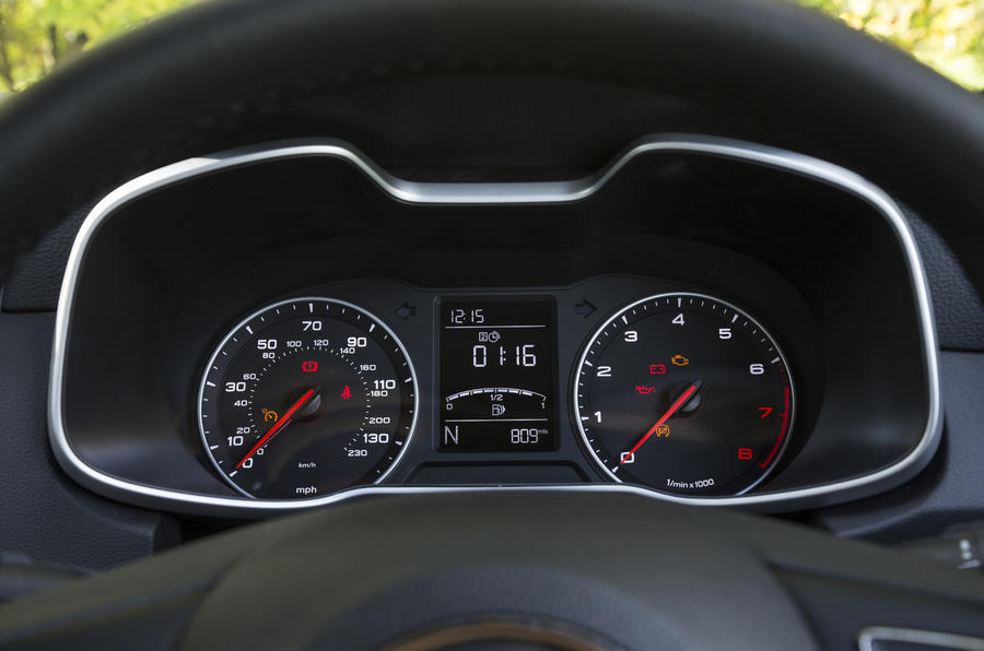 MG ZS instrument cluster