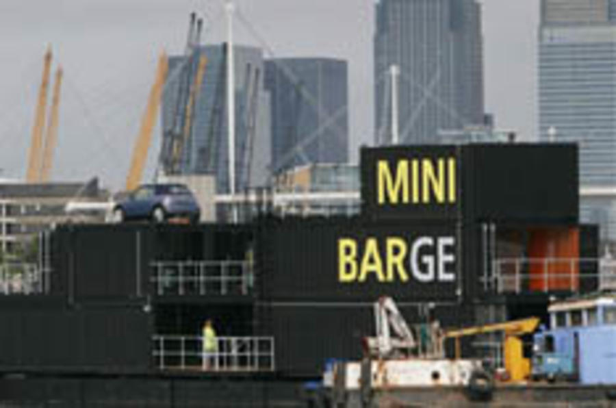Mini barges in to the London motor show