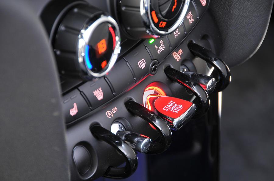 Mini Cooper ignition button