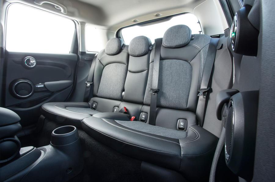 Mini Cooper D rear seats
