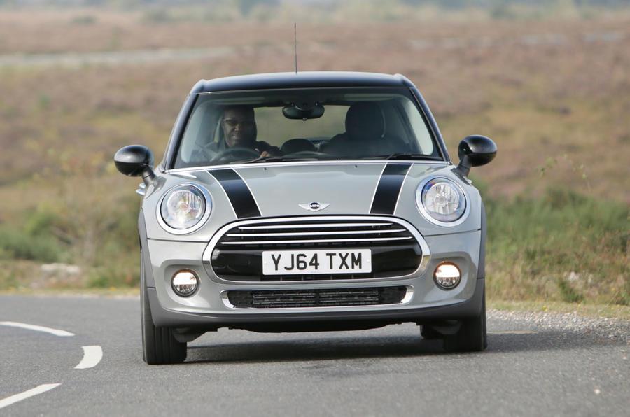 Mini Cooper D cornering