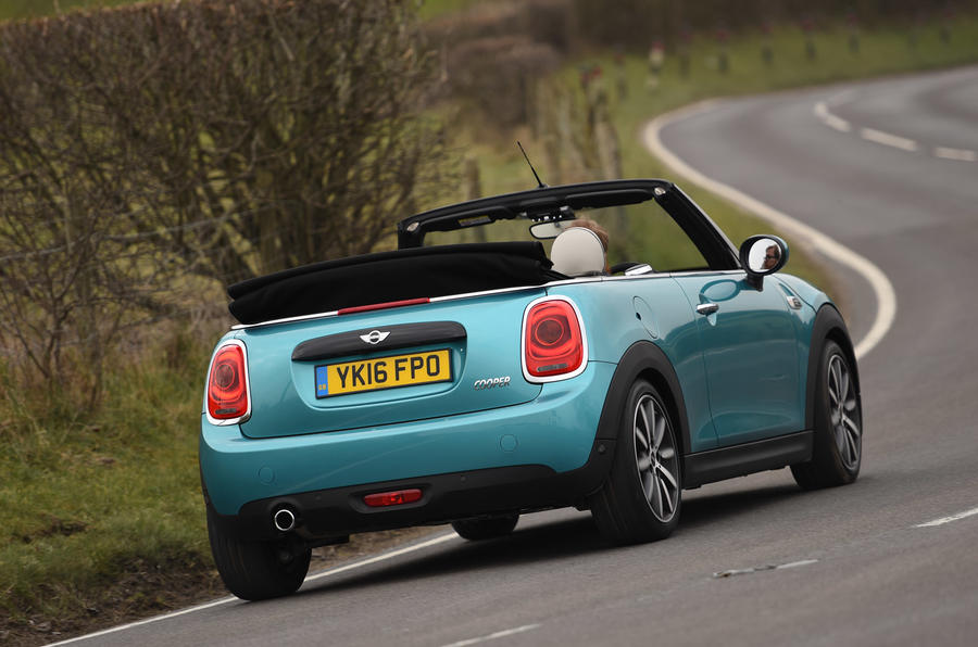 Mini Convertible rear cornering