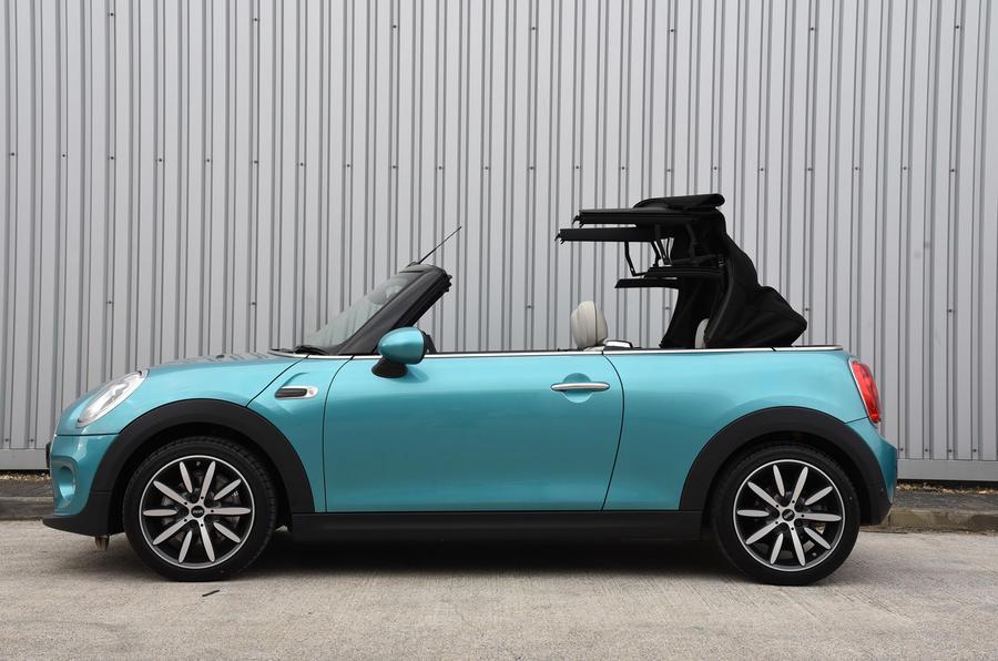 Mini Cooper roof opening