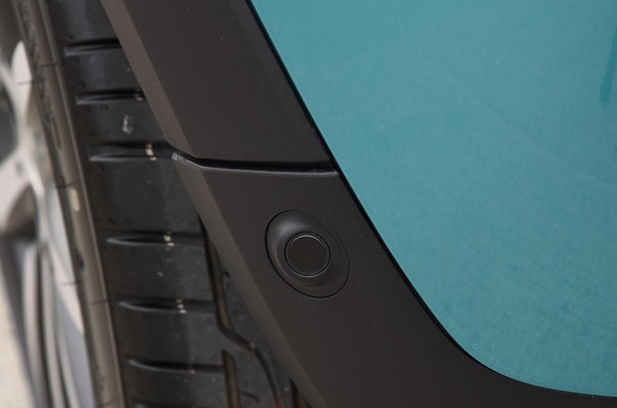 Mini Convertible rear parking sensors