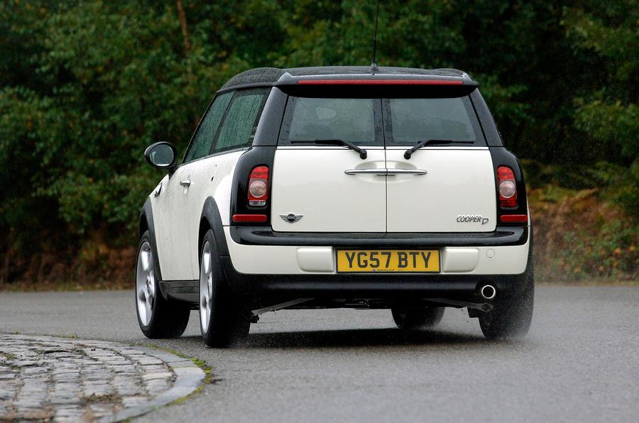 Mini Clubman rear cornering