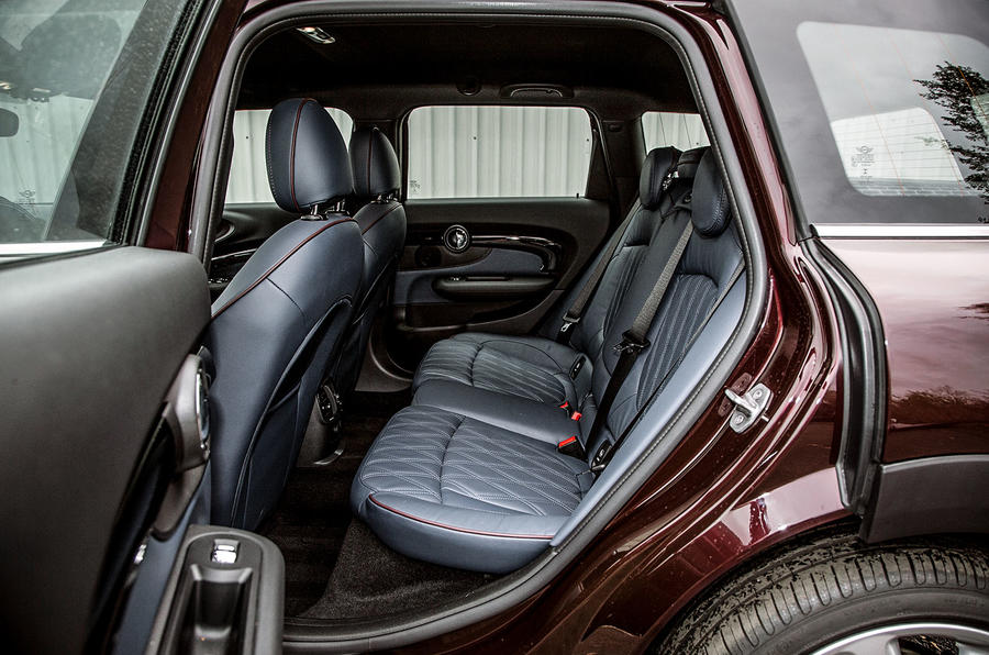 Peer into the second row seating in the Mini Clubman
