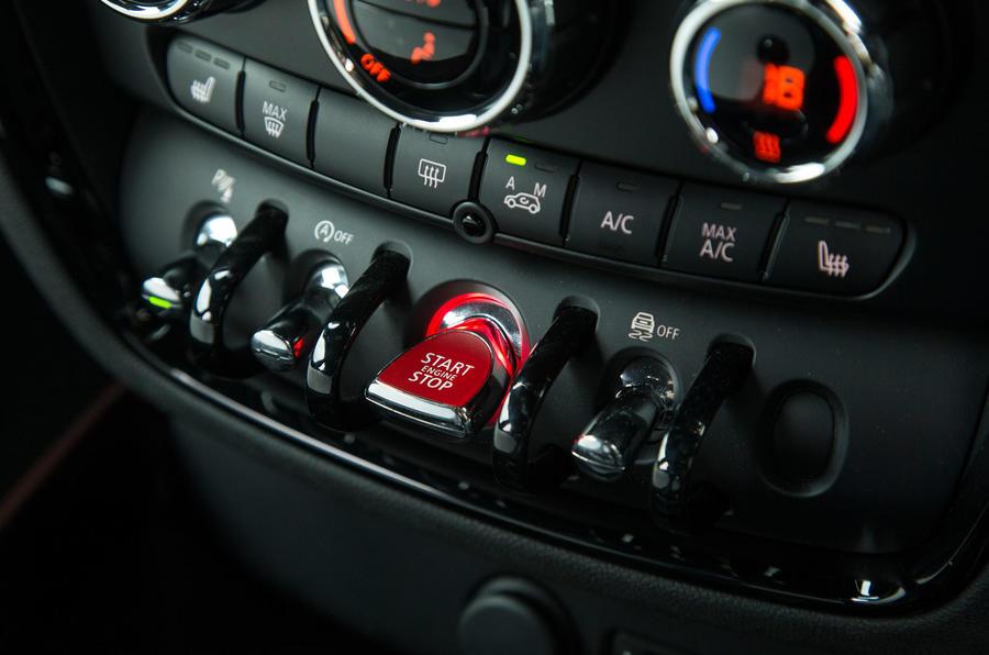 Mini Clubman ignition button