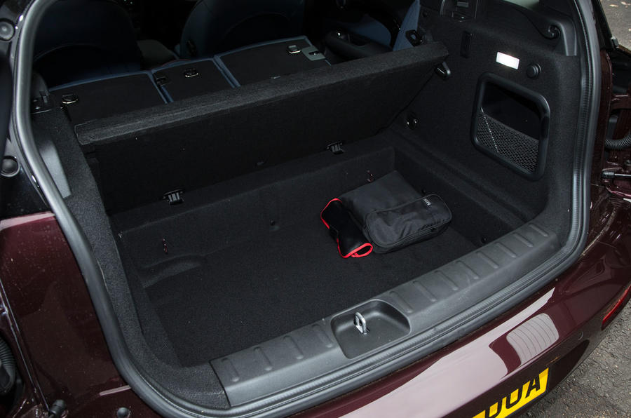 The Mini Clubman has a space under the load bay cover