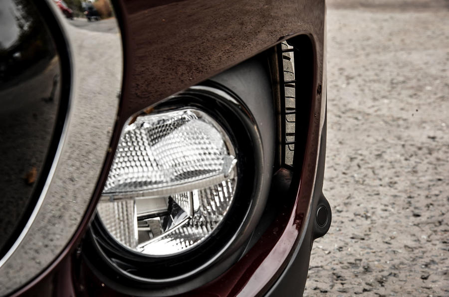 Vertical air ducts are a BMW design trait and reduce drag on the Mini Clubman