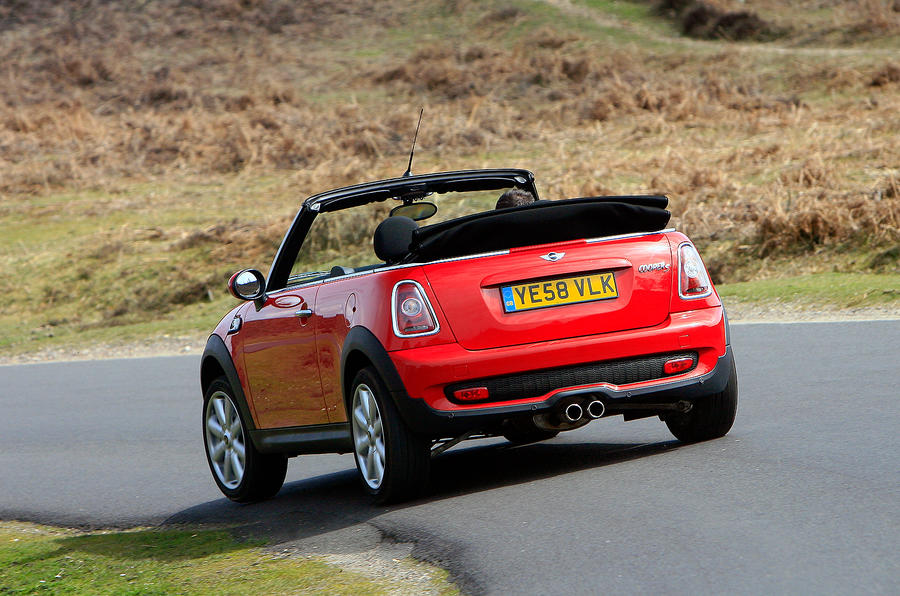 Mini Convertible rear cornering