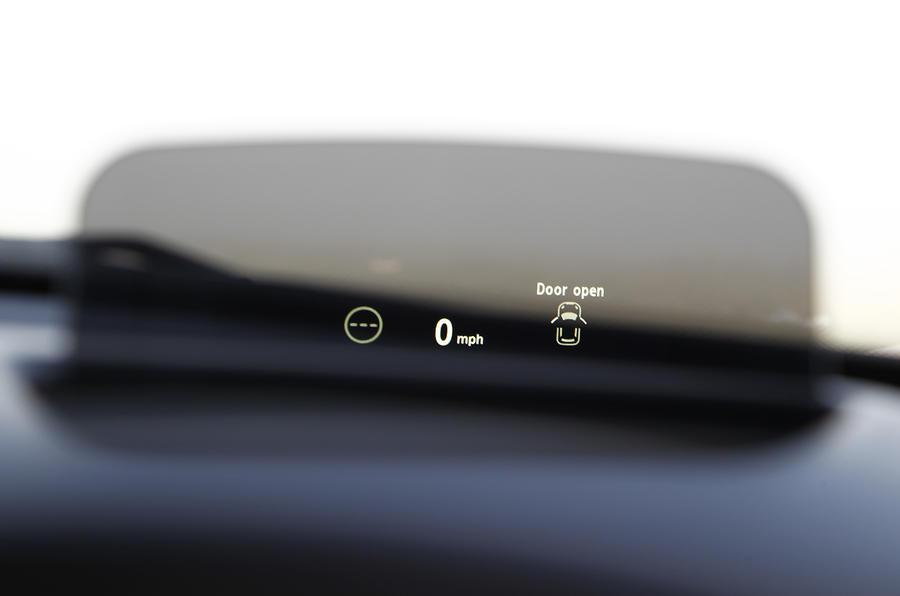 Mini Cooper head-up display