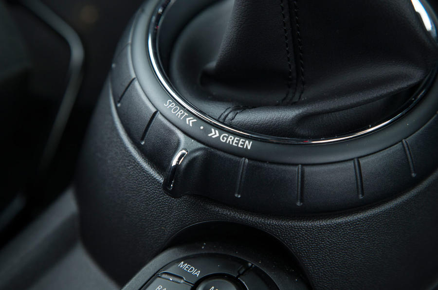 Mini Cooper S Works 210 driving mode selector