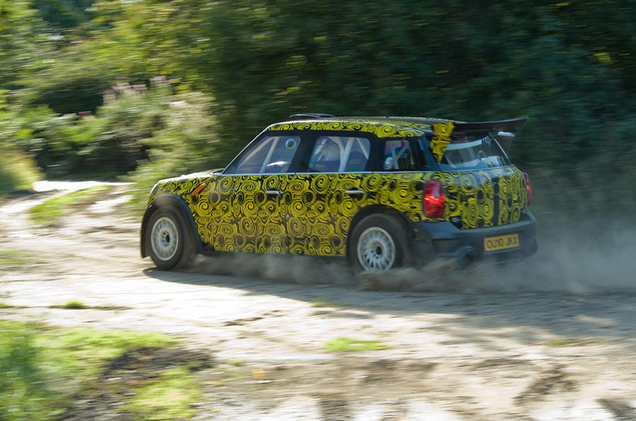 Mini Countryman WRC in action