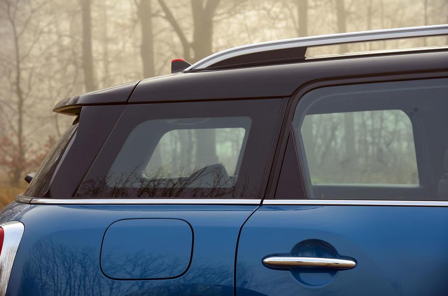 Mini Countryman tapered roof line