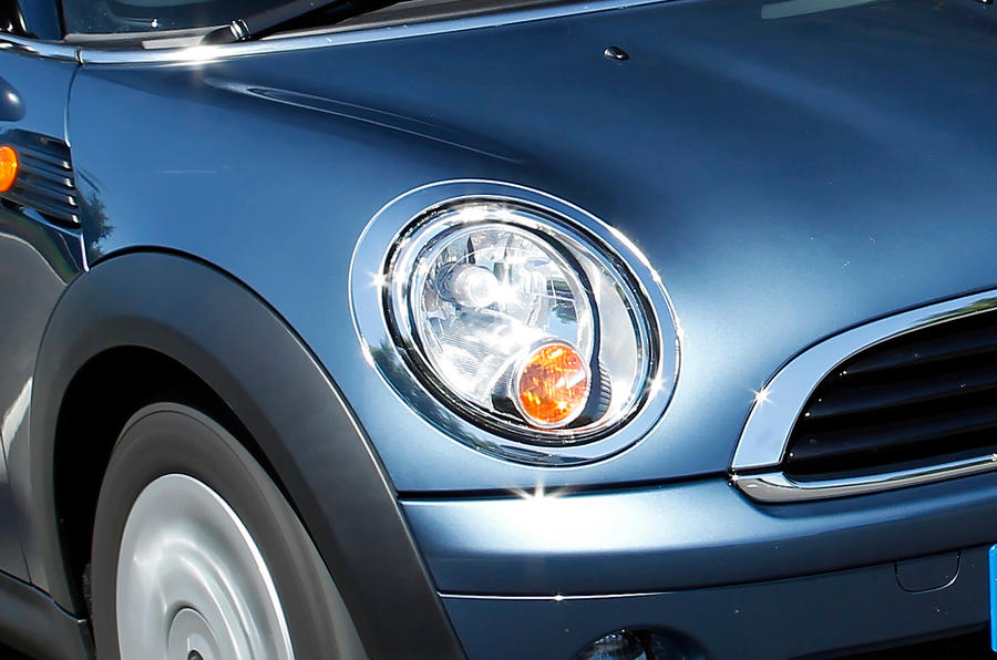 Mini Hatch front headlight