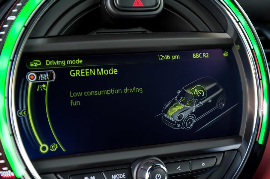 Mini JCW eco driving mode