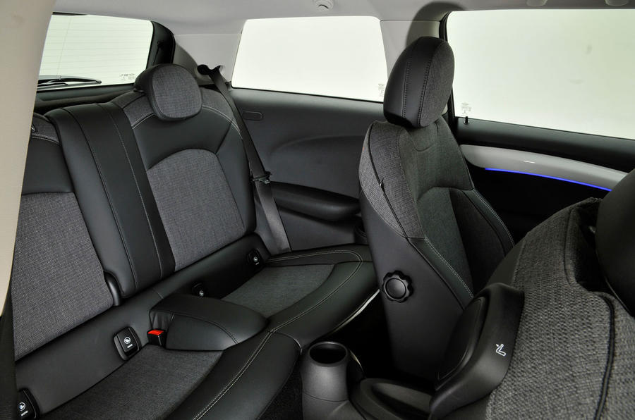 Mini One D rear seats
