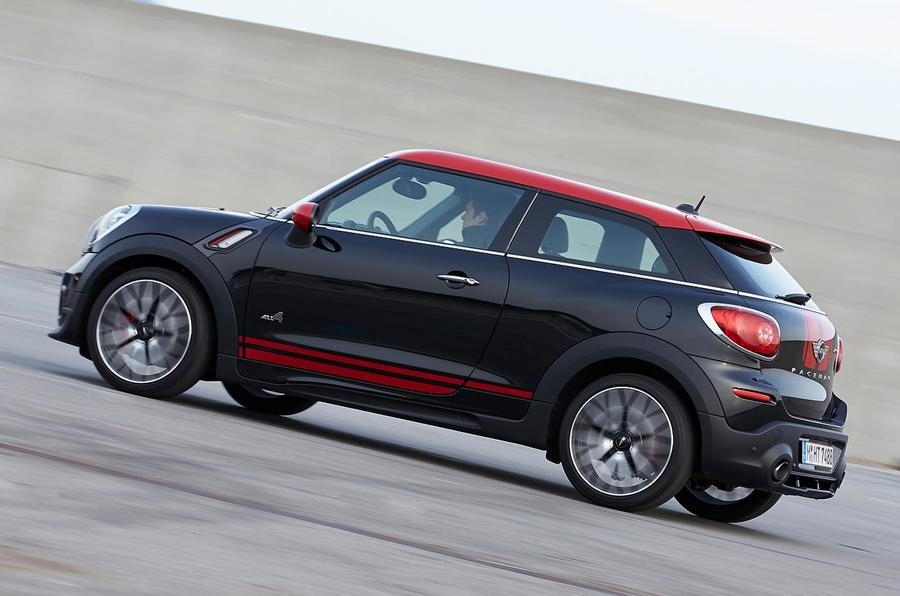 mini paceman john cooper works first drive review review autocar. Black Bedroom Furniture Sets. Home Design Ideas