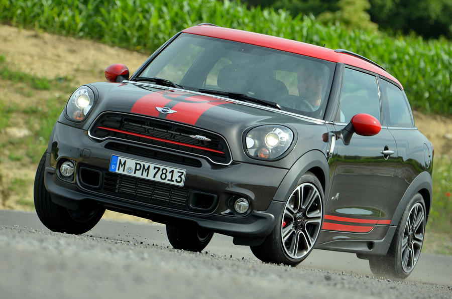 Mini JCW Paceman All4 cornering