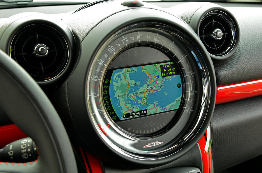 Mini JCW Paceman All4 sat nav