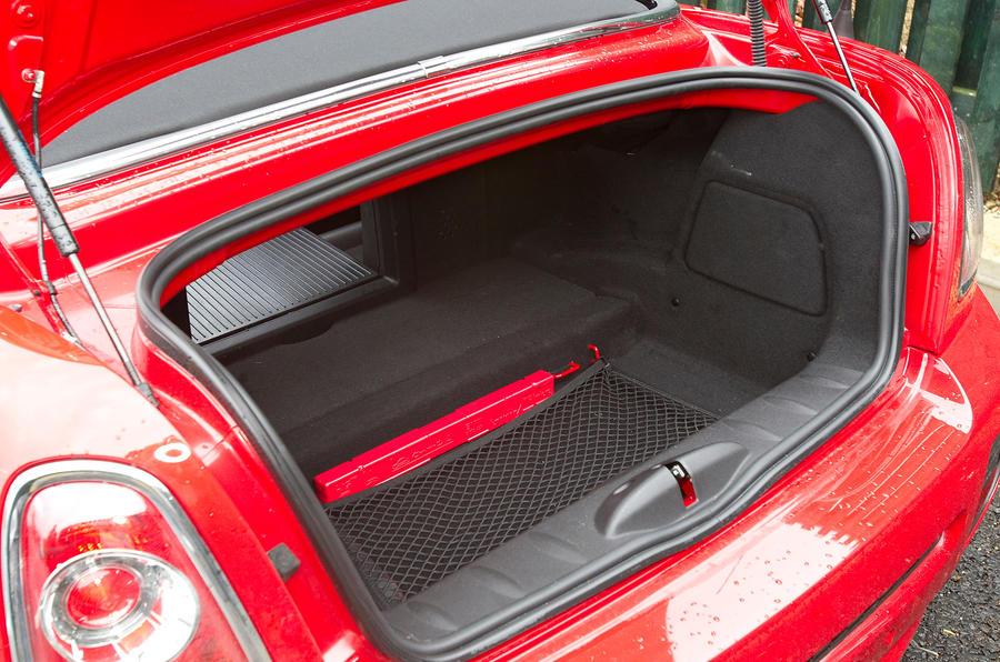 Mini Roadster boot space