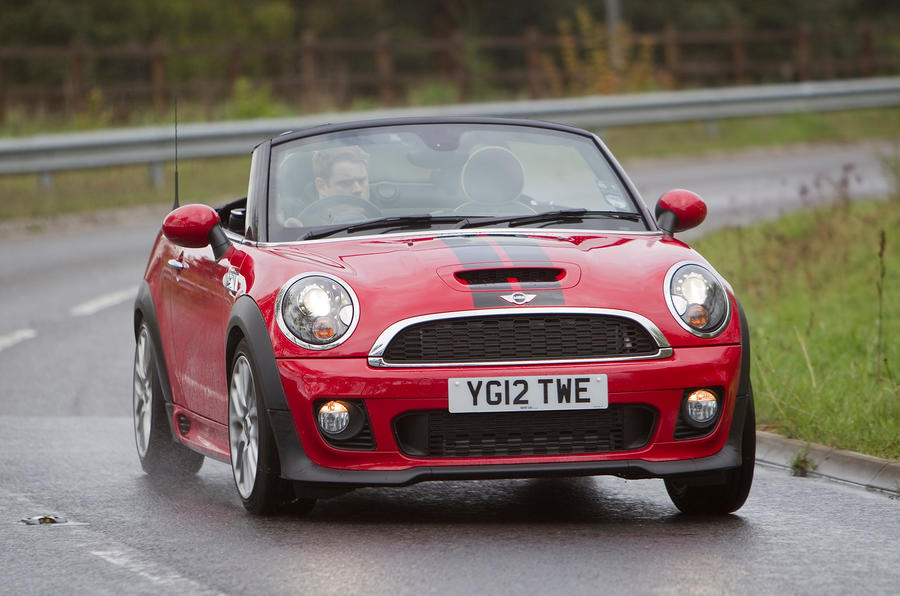 Mini Roadster cornering