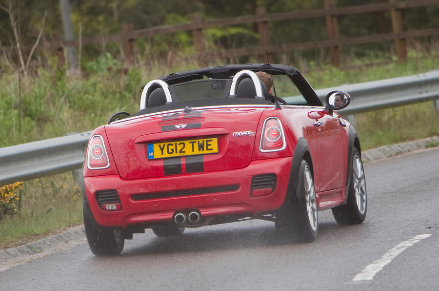Mini Roadster rear cornering