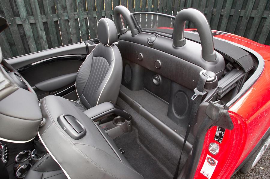 Mini Roadster rear seat space