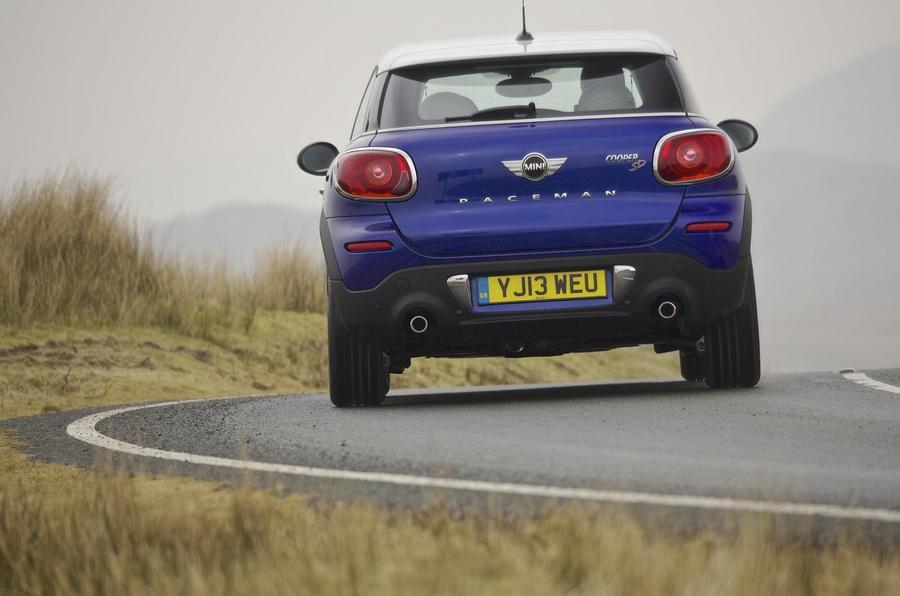 Mini Paceman rear cornering