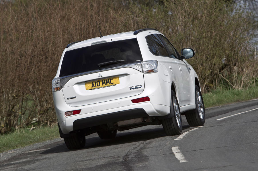 Mitsubishi Outlander PHEV rear cornering