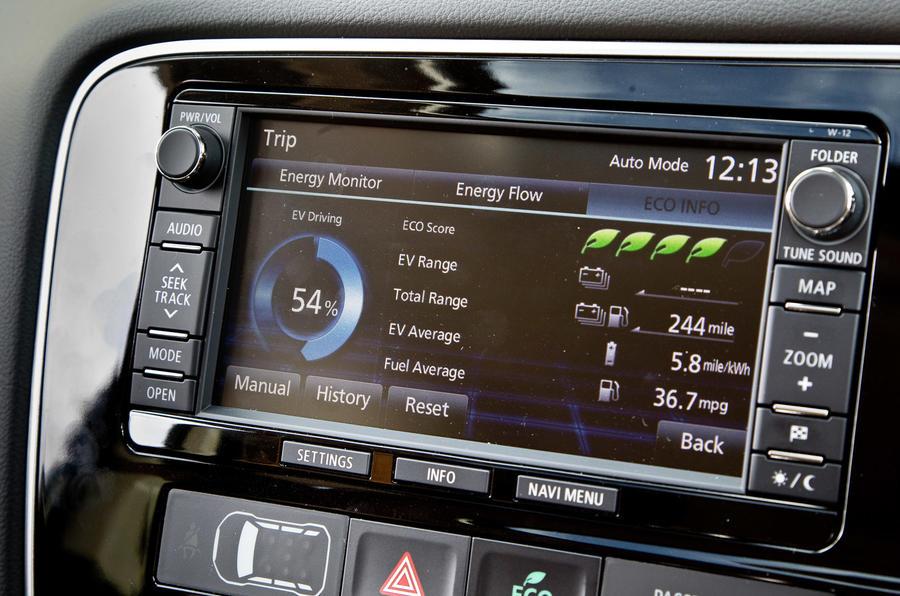 Mitsubishi Outlander PHEV infotainment system