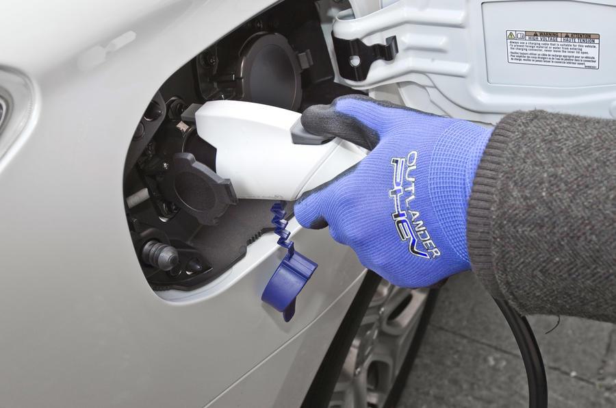 Mitsubishi Outlander PHEV charging point
