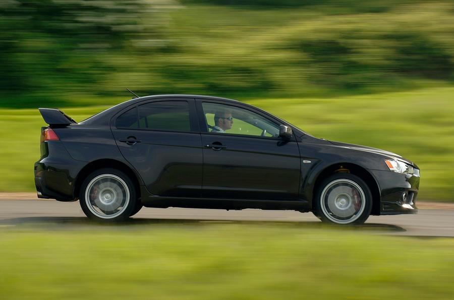 Mitsubishi Evo X side profile