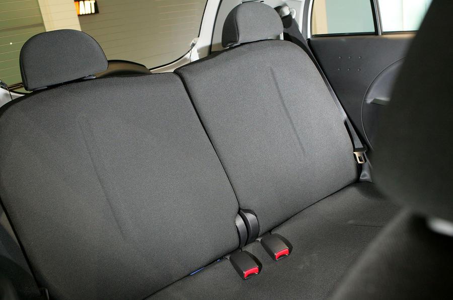 Mitsubishi iMiEV rear seats