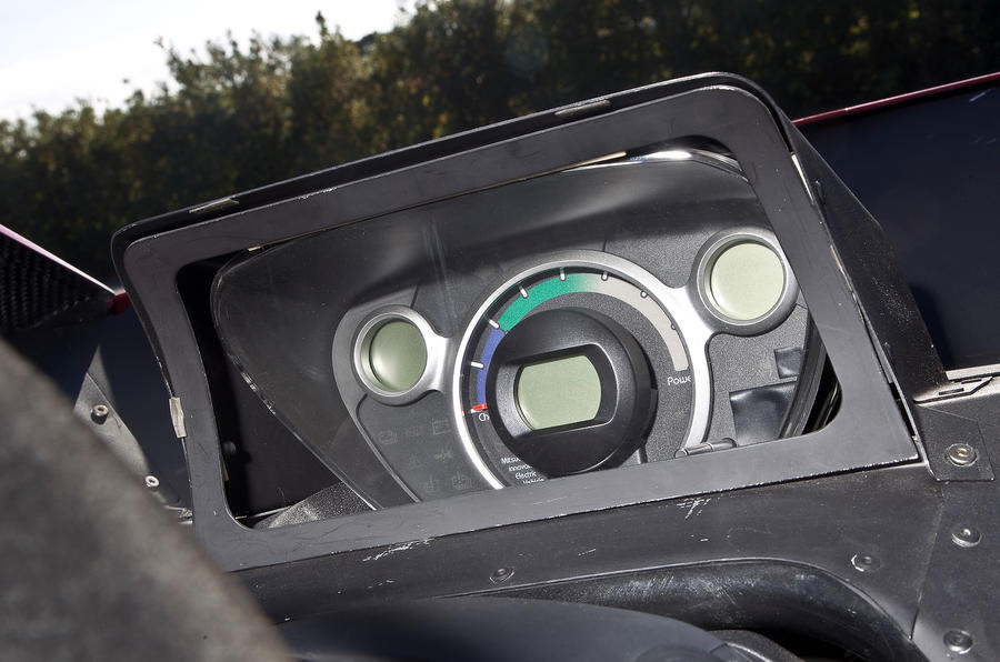 Mitsubishi iMiEV Evolution instrument cluster