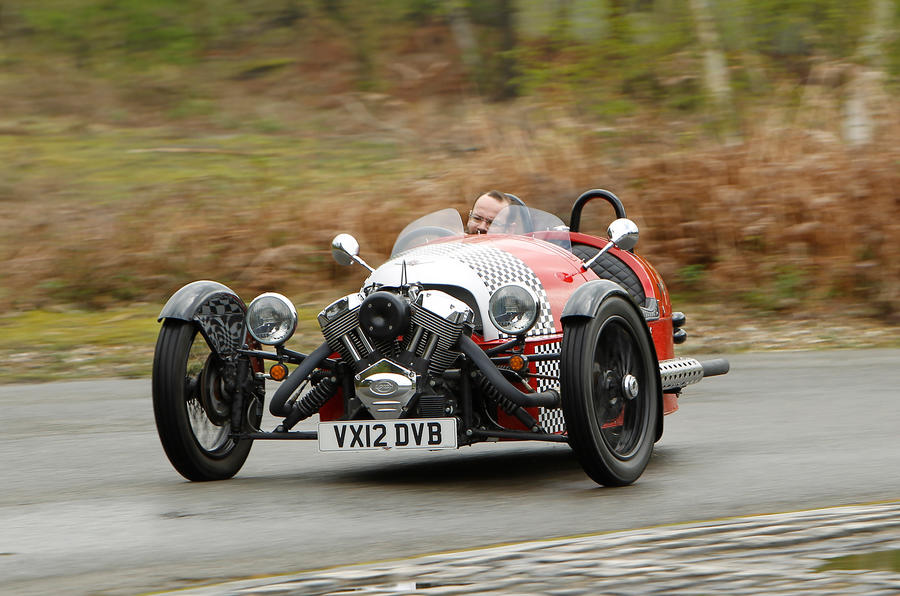 Morgan 3 Wheeler cornering