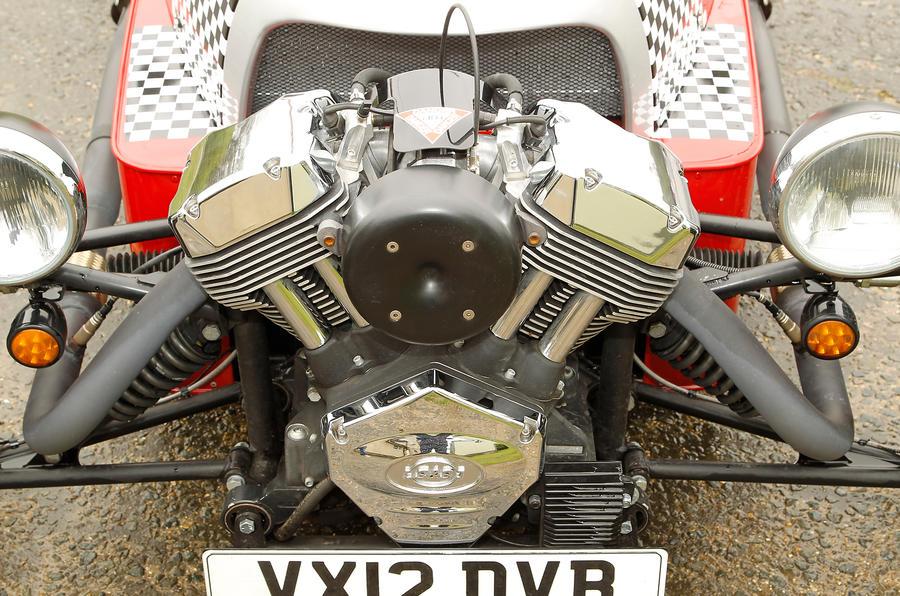 Morgan 3 Wheeler engine bay