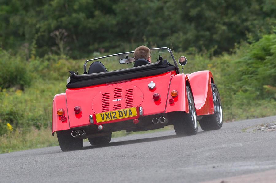 Morgan Plus 8 rear cornering