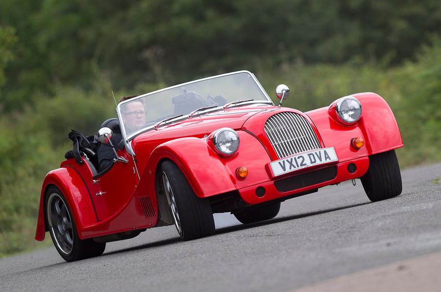 Morgan Plus 8 cornering