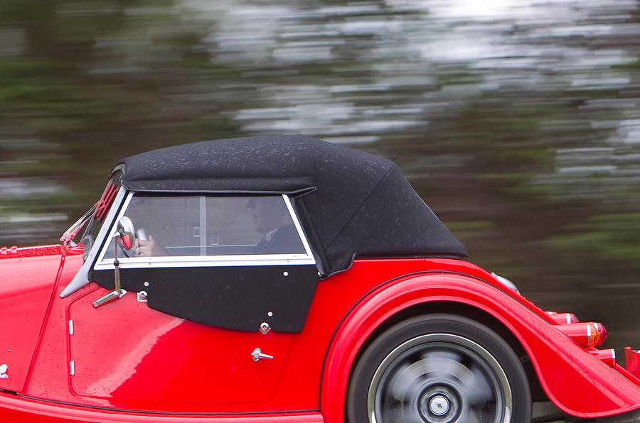 Morgan Plus 8 fabric roof