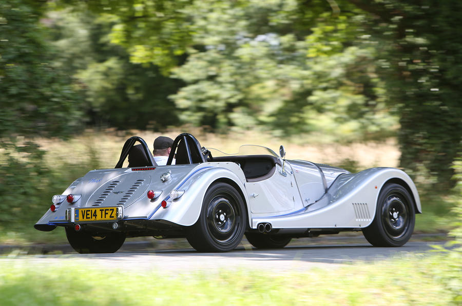 Morgan Plus 8 Speedster rear cornering