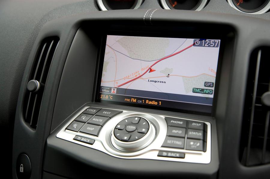 Nissan 370Z infotainment system