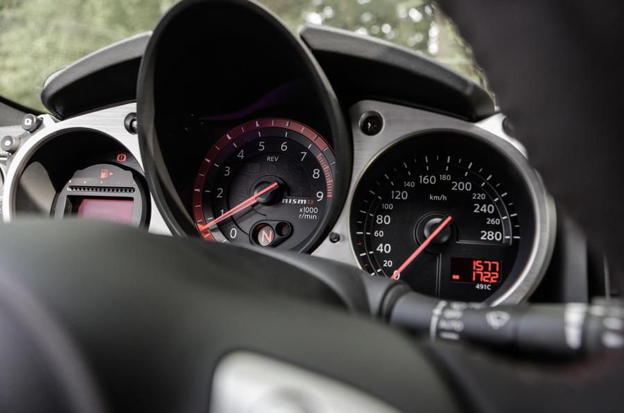 Nissan 370Z Nismo instrument cluster