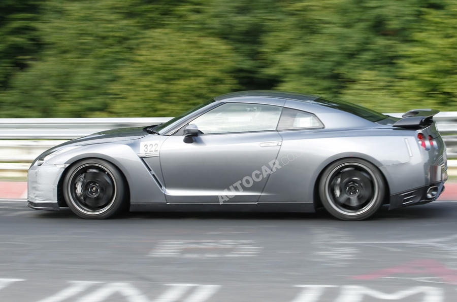Facelifted Nissan GT-R spied