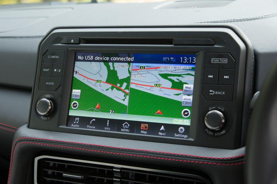 Nissan GT-R infotainment system