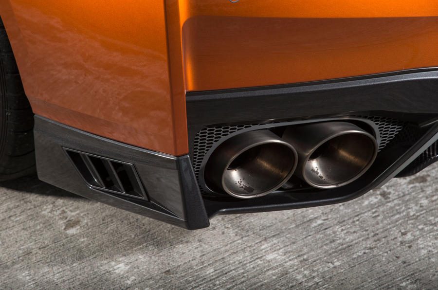 Nissan GT-R quad exhaust