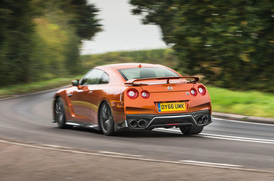 Nissan GT-R rear cornering