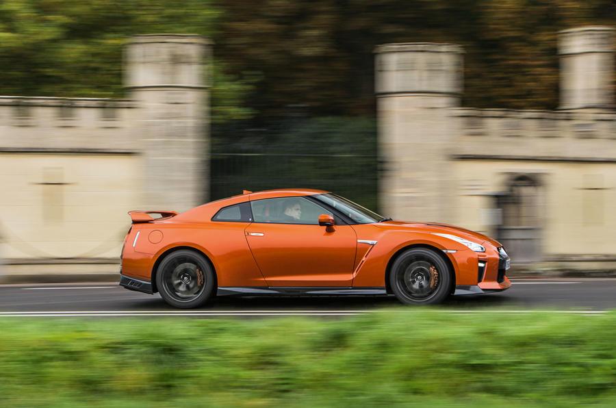 Nissan GT-R side profile
